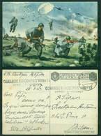 Z353 ITALIA REGNO 1943 FRANCHIGIE Cartolina Postale Per Le Forze Armate, Fil. F58-1, Ill. Pisani, Da Posta Militare - 1900-44 Vittorio Emanuele III
