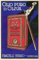 """2931 """" OLIO PURO D'OLIVA-FRATELLI BERIO-ONEGLIA-AVVISO DI PASSAGGIO RAPPRESENTANTE 24/6/1950 """" CART. POST. ORIG. SPEDITA - Commercio"""