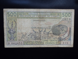 MALI : 500 FRANCS   1985   P 405De    TB+ - Mali