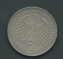 2 Mark 1958 D   -      Pieb21302 - [ 6] 1949-1990 : RDA - Rep. Dem. Alemana