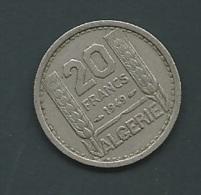 ALGERIE - 20 FRS 1949  Pieb21306 - Algérie
