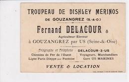 95 GOUZANGREZ Par US ,carte Publicité Delacour Agriculteur éleveur - France