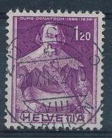 """HELVETIA - Mi Nr 383 - Cachet  """"ZURICH 50 - OERLIKON"""" - (ref. 1035) - Suisse"""