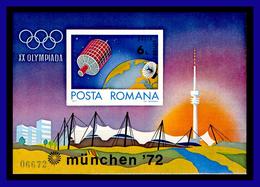 1972 - Rumania - Mi. BL 98 - Sin Dentar - JJOO De Munich 72 - MNH - RU- 266 - 02 - 1948-.... Repúblicas