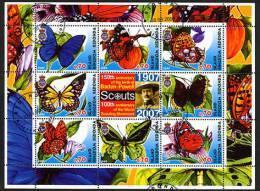 2005, PAPILLONS + SCOUTS, 8 Valeurs Oblitérées / Used, B.  R1217 - Vignettes De Fantaisie