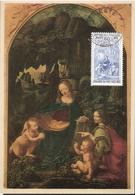 Italy 1952-1953  500th Birthday Of Leonardo Da Vinci (II)  Madonna In The Rock Grotto, Mi 877, MK Cancelled 19.2.53 - 6. 1946-.. Repubblica