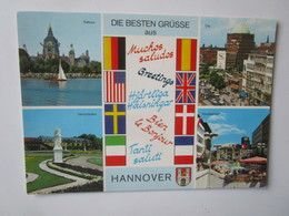 Die Besten Grusse Aus Hannover. Rathaus. Herrenhausen. Hauptbahnhof - Hannover