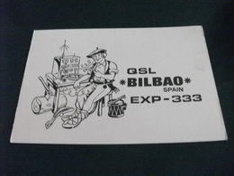 QSL BILBAO SPAIN EXP 333 RADIOMATORE IN COSTUME - Radio Amatoriale