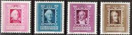 Liechtenstein 1942: Fürsten-Bilder II. Zu 171-174 Mi 207-210 Yv 182-185 ** MNH (Zumstein CHF 17.00) - Liechtenstein