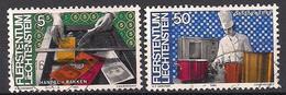 Liechtenstein  (1984)  Mi.Nr.  849 + 854  Gest. / Used  (5ah32) - Gebraucht