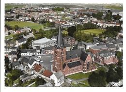Burcht - Luchtopname - Centrum. - Belgium