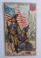 Kaufmannsbilder, Chocolat Guerin-Boutron, Kinder, Indianer, Cowboy, 1889♥ - Indianer