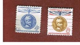 STATI UNITI (U.S.A.) - SG 1164.1165  - 1960 BARON G. MANNERHEIM  (COMPLET SET OF 2)  -  USED° - Usati