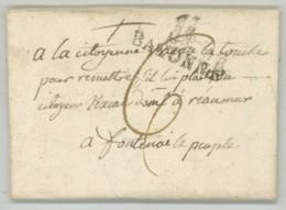 Marque BAYONNE / LàC 1801 De Madrid à Fontenay-le-Peuple Fontenay-le-Comte Taxée à 6 Sols. Vexiau De La Touche . Vendée - 1801-1848: Précurseurs XIX