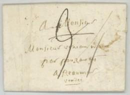 LAS 1819 Gabriel-Laurent Paillou évêque De La Rochelle à Vexiau Maire De Réaumur Par Pouzauges , Vendée . - Marcophilie (Lettres)