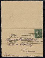 FR - Texte Paris Sous Les Bombes - 4-11-1918 - Semeuse 15 C Sur Carte-lettre Pour Périgueux - B/TB - - 1. Weltkrieg 1914-1918