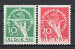 Germania Berlino 1949 Unif. 54/55 **/MNH VF/F - Ungebraucht