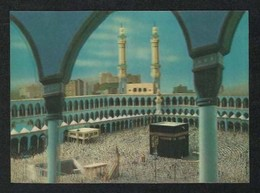 Saudi Arabia 3 D Picture Postcard Holy Mosque Ka'aba Mecca Plastic View Card - Arabie Saoudite