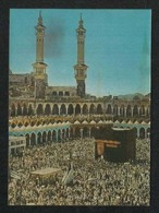 Saudi Arabia 3 D 3d Picture Postcard Holy Mosque Ka'aba Mecca & Medina Plastic View Card UNused - Arabie Saoudite