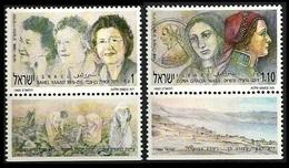1991Israel1208-1209Portrait Of Rachel Yanait & Dona Gracia3,60 € - Israel