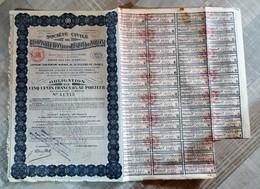 (Oise) Noyon - 60 - Société Civile De Reconstitution De La Région De Noyon, Bon Au Porteur (1922) - 1914-18