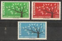 Turkey - 1962 Europa MNH **  SG 1983-5 - Unused Stamps