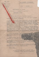 (Oise) Noyon - 60 - Militaria : Lettre De Félicitations Du Colonel à La Suite De L'offensive D'Août 1918 - 1914-18