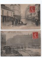 Lot 9  Cartes Inondations De Paris 1910 - Inondations