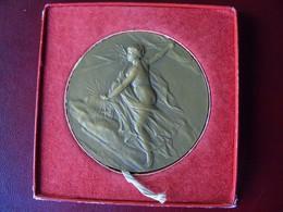Ancienne Médaille De Table Syndicat Général De La Construction éléctrique Attribuée Rischard Et Signée Ch Pillet. - Professionnels / De Société