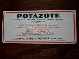 L18/109 Buvard. Potazote - Agriculture