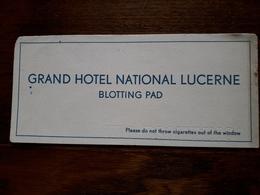 L18/110 Buvard. Grand Hotel National Lucerne. Blotting Pad - Blotters