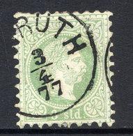 AUSTRIA PO IN TURKISH EMPIRE 1867 Franz Joseph Coarse Print 3 Soldi Used. Michel 2 I - Levant Autrichien