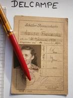 1944 WWII WIEN OSTERREICH VIENNA AUSTRIA Schüler AUSWEISKARTE SCHOOL Student ID Card AUSWEIS DOCUMENT GERMANY - 1939-45