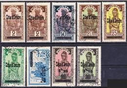 Côte D'Ivoire 1933 Lot 4, Timbres Courants De Haute-Volta Surchargés Oblitérés O, Je Vends Ma Collection! - Côte-d'Ivoire (1892-1944)