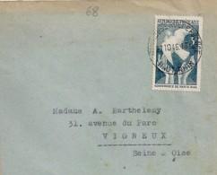 68 - HAUT RHIN - MULHOUSE RUE DE FRANCE - 1946 - TàD DE TYPE A5bis - Postmark Collection (Covers)