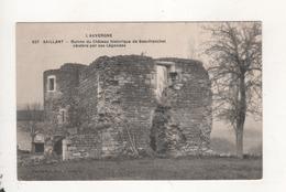 Saillant Ruines Du Chateau De Beaufranchet - Frankreich