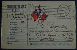 CORRESPONDANCE MILITAIRE.  Année 1914 ( Recto / Verso ) - Guerre 1914-18