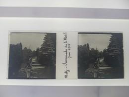 Metz Promenades Sur La Moselle Juin 1925 Juin 1925  Stéréo Sur Verre Plaque De Verre Françe - Glass Slides