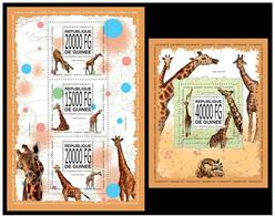 Guinea 2013 Fauna Giraffes Klb + S/s MNH - Giraffen