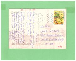 2001 ITALIA VIAGGIATA SINGOLA X LA SVIZZERA AGRICOLTURA ITALIANA € 0,41 - 6. 1946-.. Repubblica