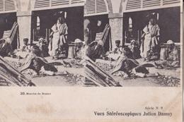 MARCHE DE BISKRA   VUES STEREOSCOPIQUESS JULIEN DAMOY SERIE N. 9 AUTENTICA 100% - Cartoline Stereoscopiche
