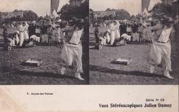COURSEE DES VALISES VUES STEREOSCOPIQUESS JULIEN DAMOY SERIE N.10 AUTENTICA 100% - Cartoline Stereoscopiche