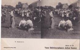 COURSEE EN SAC VUES STEREOSCOPIQUESS JULIEN DAMOY SERIE N.10 AUTENTICA 100% - Cartoline Stereoscopiche