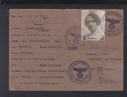 Dt. Reich Generalgouvernement Polen Poland Kennkarte Für Dt. Volkszugehörige 1942 - Historische Dokumente