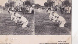 LA CORDE VUES STEREOSCOPIQUESS JULIEN DAMOY SERIE N.10 AUTENTICA 100% - Cartoline Stereoscopiche