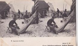 REPARATION DES FILETS  VUES STEREOSCOPIQUESS JULIEN DAMOY SERIE N.10 AUTENTICA 100% - Cartoline Stereoscopiche