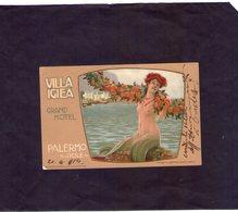 Sicilia Palerrmo  Cart. Villa Igiea Grand Hottel   Viaggiata Il 23 - 4 -  1914 - Palermo