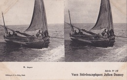 DEPART VUES STEREOSCOPIQUESS JULIEN DAMOY SERIE N.10 AUTENTICA 100% - Cartoline Stereoscopiche