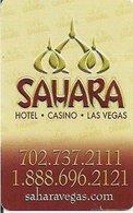 STATI UNITI  KEY HOTEL  Sahara - Hotel Casino Las Vegas - Cartes D'hotel