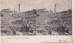 ROME VUE GENERALE DU FORUM ROMAIN  VUES STEREOSCOPIQUESS JULIEN DAMOY SERIE N.10 AUTENTICA 100% - Cartoline Stereoscopiche
